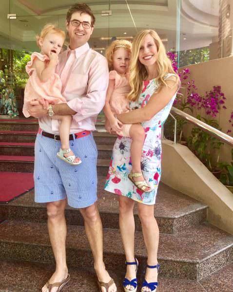Alex and Melanie Martin, Family of four, Clara Lane Martin, N2
